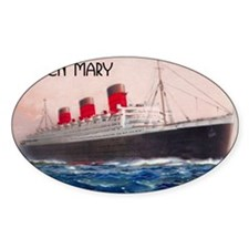 Queen Mary Red Border Decal