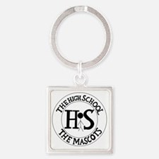 The High School Square Keychain