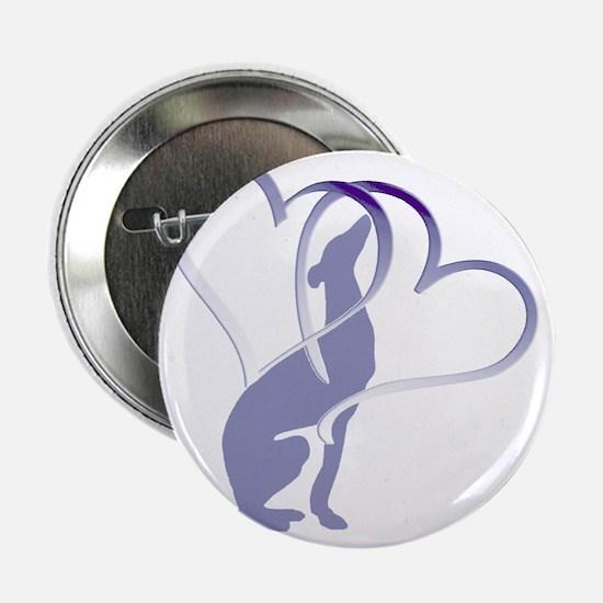 """Greyhound Hearts 2.25"""" Button"""
