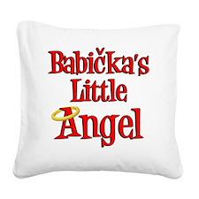Babickas Little Angel Square Canvas Pillow