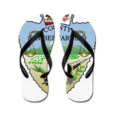 San Bernandino County seal Flip Flops