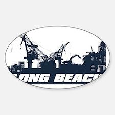 Port of Long Beach Sticker (Oval)