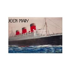 Queen Mary Liner Rectangle Magnet