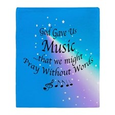 God Gave Us Music Throw Blanket