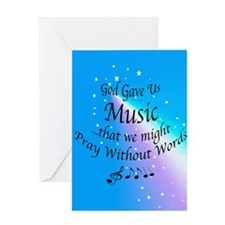 God Gave Us Music Greeting Card