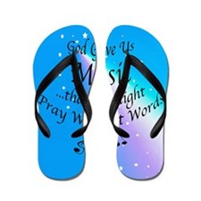 God Gave Us Music Flip Flops