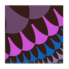 Chocolate Raspberry Scales Tile Coaster