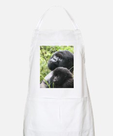 Mountain Gorilla Father  Son Apron