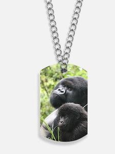 Mountain Gorilla Father  Son Dog Tags