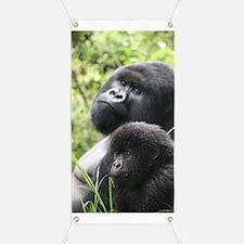 Mountain Gorilla Father  Son Banner