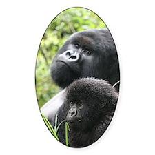 Mountain Gorilla Father  Son Decal