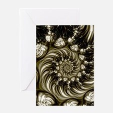 Feather Spiral Greeting Card