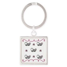 Mice Square Keychain
