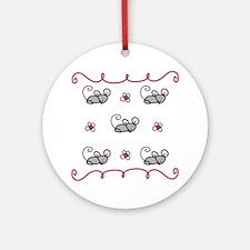 Mice Round Ornament