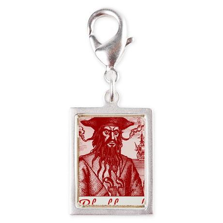 Blackbeard Pirate in Puerto Silver Portrait Charm