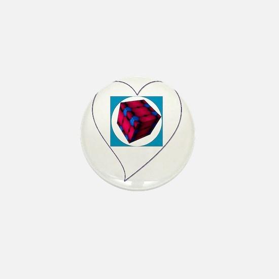 I Love You Cubed Mini Button
