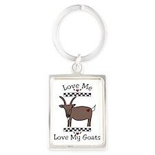 Love Me Love My Goats Portrait Keychain