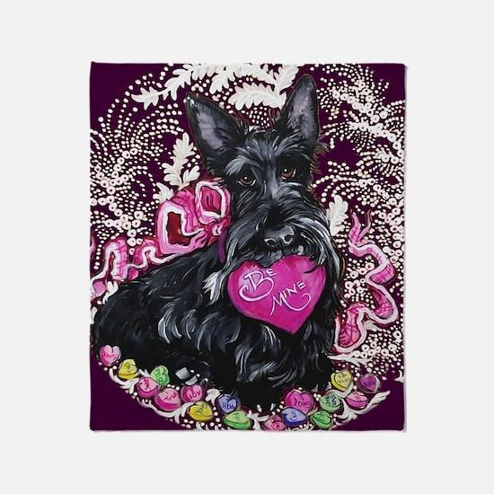 Scottish Terrier Valentine Throw Blanket