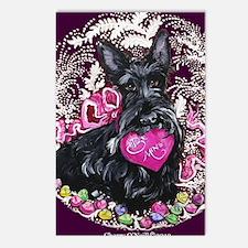 Scottish Terrier Valentin Postcards (Package of 8)
