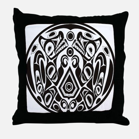 Wolfpack Tattoo Throw Pillow