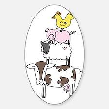 Farm Pyramid Sticker (Oval)