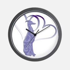 Valentine Whippet Wall Clock
