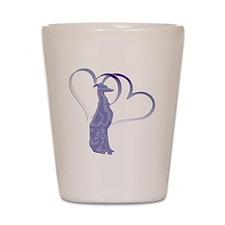 Valentine Whippet Shot Glass