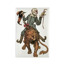 Oz Scarecrow and Lion Rectangle Magnet