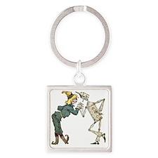 Oz Scarecrow and Tin Woodman Square Keychain