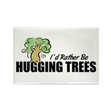 Hugging Trees Rectangle Magnet