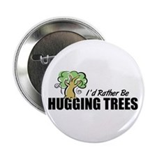 Hugging Trees Button