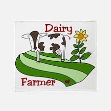 Dairy Farmer Throw Blanket