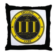 Come and Take It! (Black and Yellow) Throw Pillow