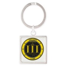 Come and Take It! (Black and Yello Square Keychain
