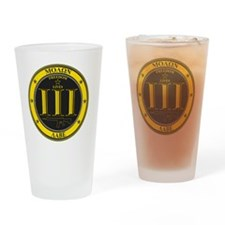 Come and Take It! (Black and Yellow Drinking Glass
