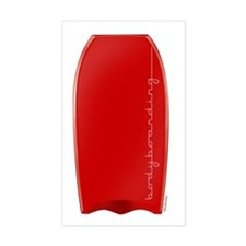 Red Bodyboarding Decal