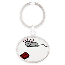 Mouse Trap Oval Keychain