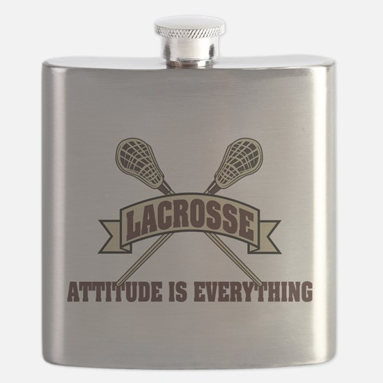 Lacrosse Attitude Is Everything Flask