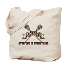 Lacrosse Attitude Is Everything Tote Bag