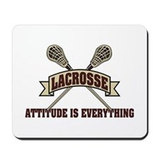 Lacrosse Attitude Is Everything Mousepad