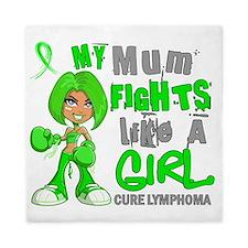 D Mum Fights Like Girl Lymphoma 42.9 Queen Duvet
