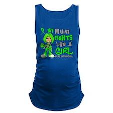 D Mum Fights Like Girl Lymphoma Maternity Tank Top
