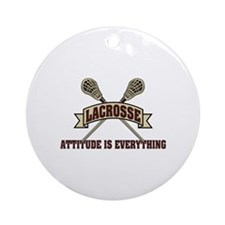 Lacrosse Attitude Is Everything Ornament (Round)