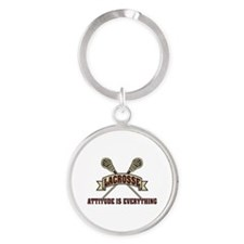 Lacrosse Attitude Is Everything Round Keychain