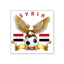 "Syria Football Designs Square Sticker 3"" x 3"""