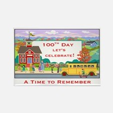 100th Day to Remember Rectangle Magnet