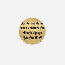 God and Climate Change Mini Button