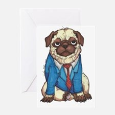 Business Pug in Full Color Greeting Card