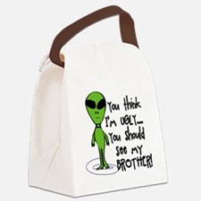 Ugly Alien Canvas Lunch Bag
