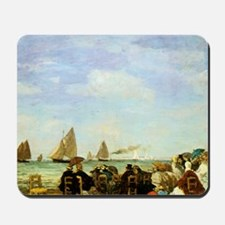 Eugene Boudin Beach At Trouville Mousepad